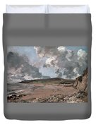 Weymouth Bay With Jordan Hill Duvet Cover