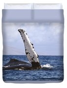 Whale Fin Above Water Duvet Cover