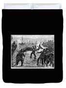 Whaling At Shore, 1875 Duvet Cover