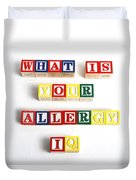 What Is Your Allergy Iq Duvet Cover