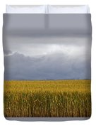 Wheat Field And Storm Duvet Cover