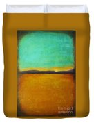 Wheat Field At Sunset Duvet Cover