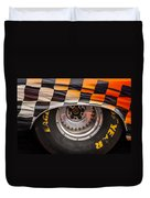 Wheel And Chequered Flag Duvet Cover