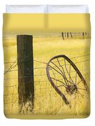 Wheel Looking For A Tractor Duvet Cover by Rich Franco