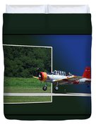 Wheels Down Open Canopy Duvet Cover