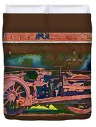 Wheels Of An Old Vintage Train Engine No.1026 Duvet Cover