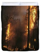 When Flames Crown Into Treetops Duvet Cover