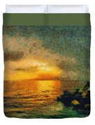 When The Sun Mets The Sea Duvet Cover