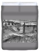 Where Does The Story End Monochrome Duvet Cover