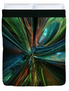 Where Tech Meets Digital Abstract Fx  Duvet Cover