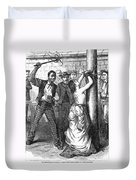 Whipping Post, 1878 - To License For Professional Use Visit Granger.com Duvet Cover