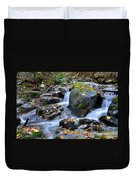 Whisketown Stream In Autumn Duvet Cover