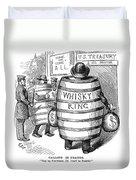 Whisky Ring Cartoon, 1875 Duvet Cover