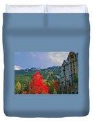 Whistler Red Duvet Cover