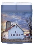 White Barn Sunrise Duvet Cover