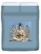 White Buddha Duvet Cover