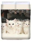 White Cats Duvet Cover