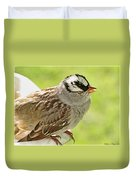 White Crowned Sparrow II Duvet Cover