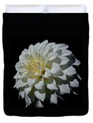 White Dahlia Duvet Cover