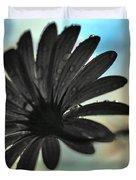 White Daisy Silhouette Duvet Cover