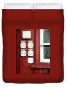 White Doorbells Duvet Cover