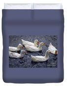 White Ducks Duvet Cover