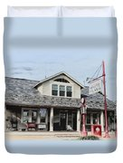 White Flash Gasoline Duvet Cover