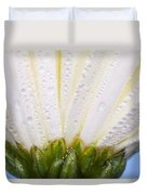White Flower Head With Dew Duvet Cover