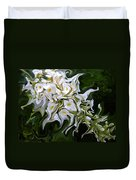 White Flowers 2 Duvet Cover