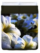 White Flowers At Dusk 2 Duvet Cover