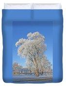 White Frost Tree Duvet Cover