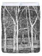 White Grove Duvet Cover