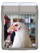 White Hen Duvet Cover