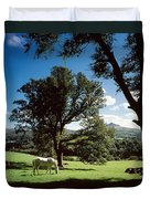 White Horse At Powerscourt, Co Wicklow Duvet Cover