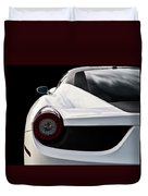 White Italia Duvet Cover