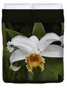 White Orchid Duvet Cover
