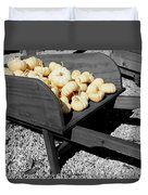 White Pumpkin Harvest Duvet Cover