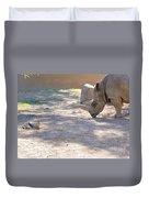 White Rhino And Ibex Duvet Cover