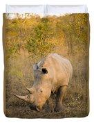 White Rhinoceros Ceratotherium Simum Duvet Cover
