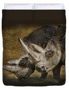White Rhinos Duvet Cover