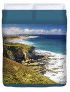 White Rocks, Portrush, Co Antrim Duvet Cover