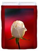 White Rose Red And Black Bg Duvet Cover