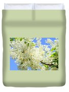 White Shower Tree Duvet Cover