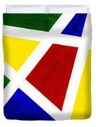 White Stripes 3 Duvet Cover