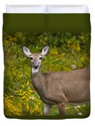 White Tail Early Autumn Duvet Cover