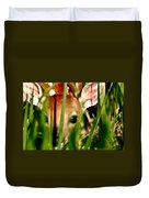 White Tailed Deer Fawn Hiding In Grass Duvet Cover