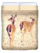 White Tails In The Snow Duvet Cover