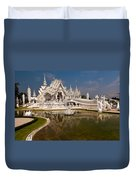 White Temple Duvet Cover