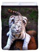 White Tiger 2 Duvet Cover