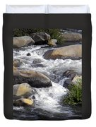 White Water Composition Duvet Cover